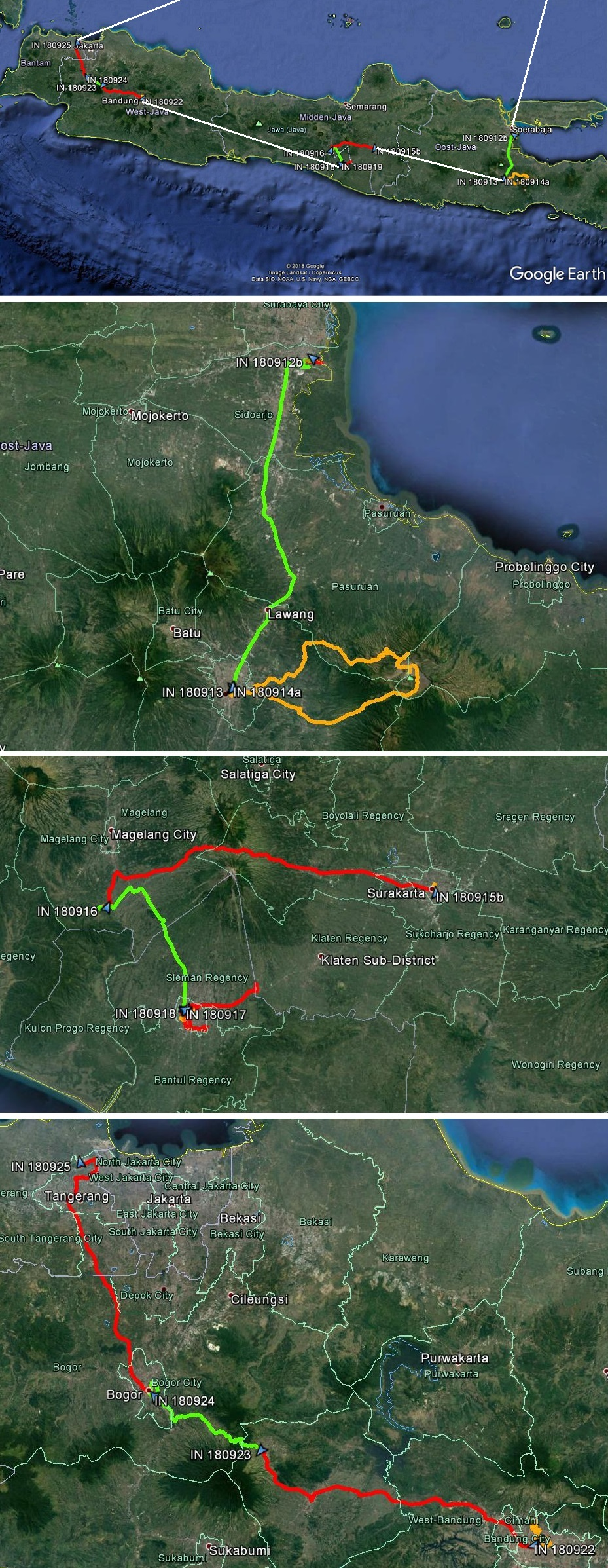 Indonesie Fietsroute Sulawesi